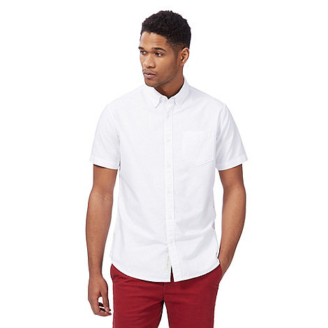 Racing Green - Big and tall white short sleeved oxford shirt