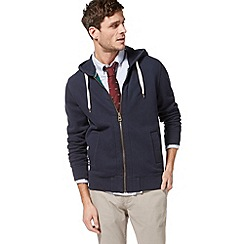 Racing Green - Navy zip through hoodie