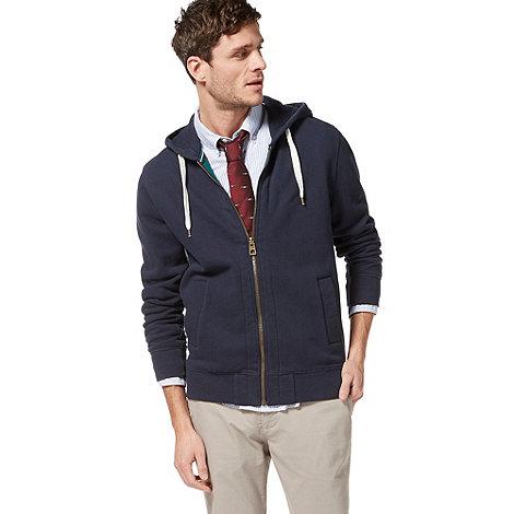 Racing Green - Navy zip through hoodie