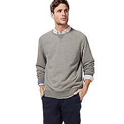 Racing Green - Big and tall grey crew neck sweater
