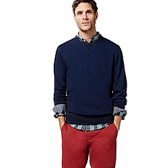 Racing Green - Big and tall navy crew neck sweater