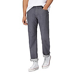 Racing Green - Big and tall grey straight fit jeans