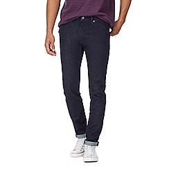 Racing Green - Dark blue rinse wash slim leg jeans