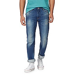 Racing Green - Blue mid wash straight leg jeans