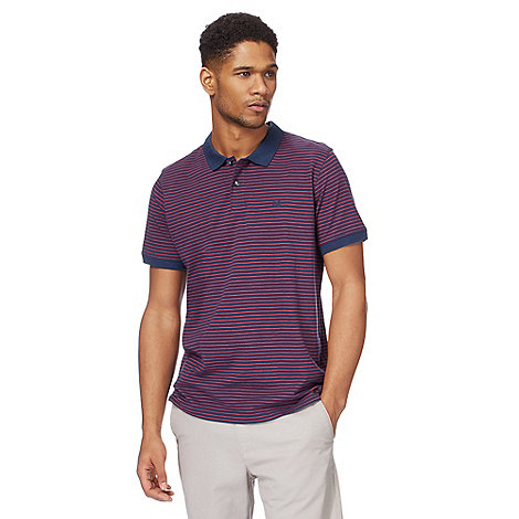 Racing Green - Navy and red striped polo shirt