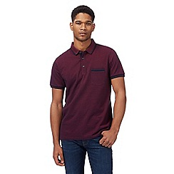Racing Green - Big and tall dark purple textured polo shirt