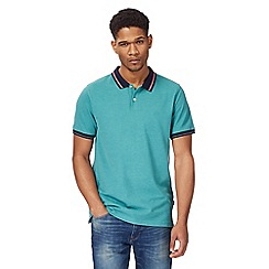 Racing Green - Green contrasting tipping polo shirt