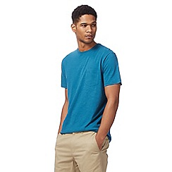 Racing Green - Big and tall turquoise pocket t-shirt