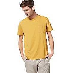 Racing Green - Big and tall dark yellow pocket t-shirt