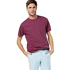 Racing Green - Dark pink striped pocket t-shirt