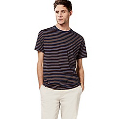 Racing Green - Navy textured striped pocket t-shirt