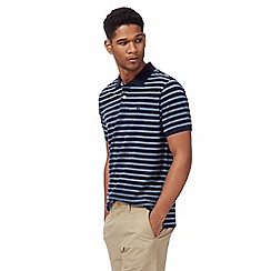 Racing Green - Big and tall navy stripe print polo shirt