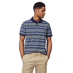 Racing Green - Big and tall blue stripe print polo shirt