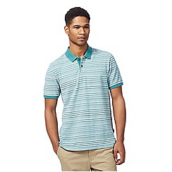 Racing Green - Big and tall green striped polo shirt