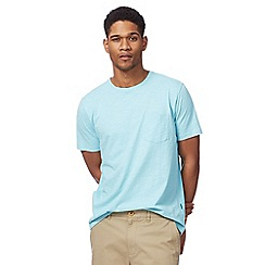 Racing Green - Big and tall light turquoise pocket t-shirt