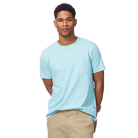 Racing Green - Light turquoise pocket t-shirt