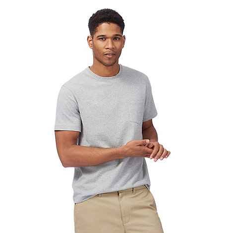 Racing Green - Grey textured spotted pocket t-shirt
