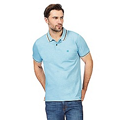 Racing Green - Big and tall light blue pique triple tipped polo shirt