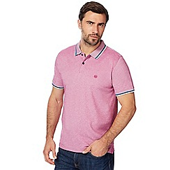 Racing Green - Big and tall pink tipped polo shirt