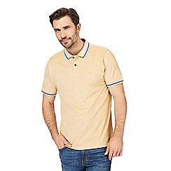 Racing Green - Big and tall yellow textured polo shirt