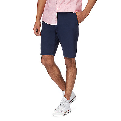 Racing Green - Navy chino shorts