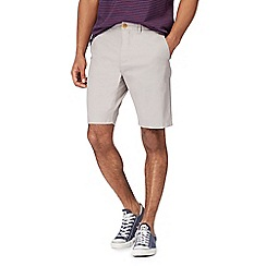 Racing Green - Big and tall light grey chino shorts