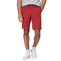 Racing Green - Dark red chino shorts
