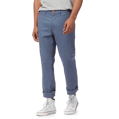 Racing Green - Big and tall blue chino trousers