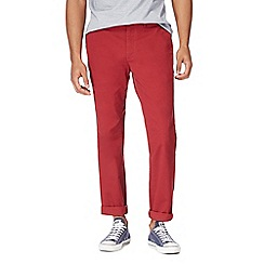 Racing Green - Dark red chino trousers