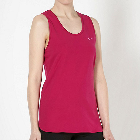 Nike - Women+s purple mesh panel tank top