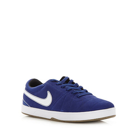 Nike - Blue suede panel lace up trainers