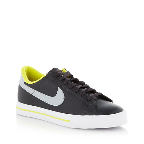 Nike - Black leather trainers