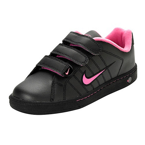 Nike - Girl+s black +Court Tradition Lea+ trainers