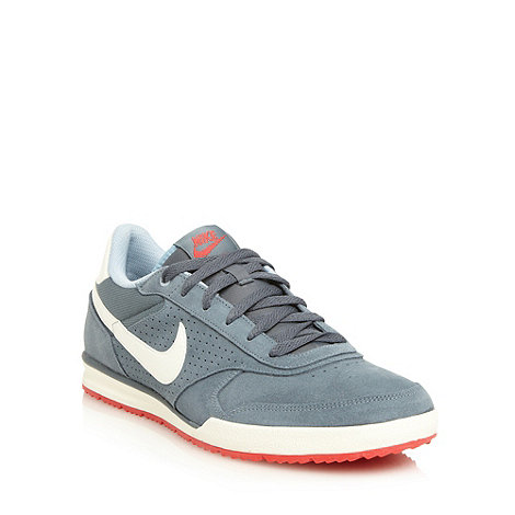 Nike - Grey +Field+ suede trainers