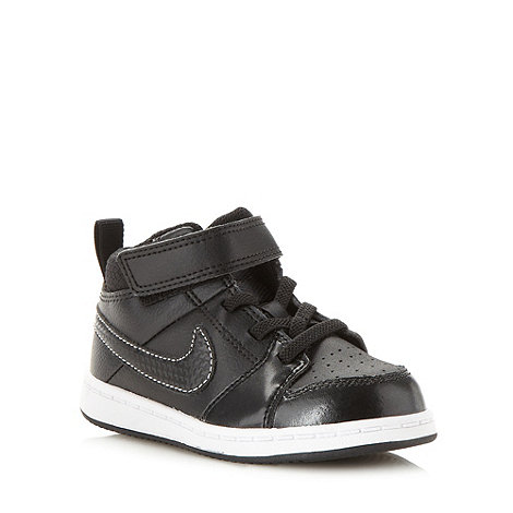Nike - Boy+s black leather high tops