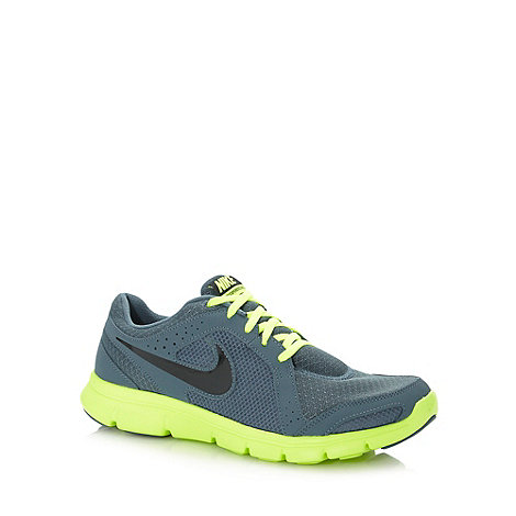 Nike - Grey mesh logo padded running trainers