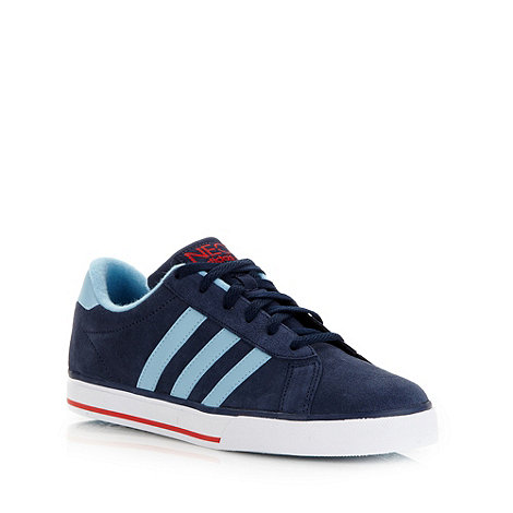 adidas - Navy +Daily+ suede trainers