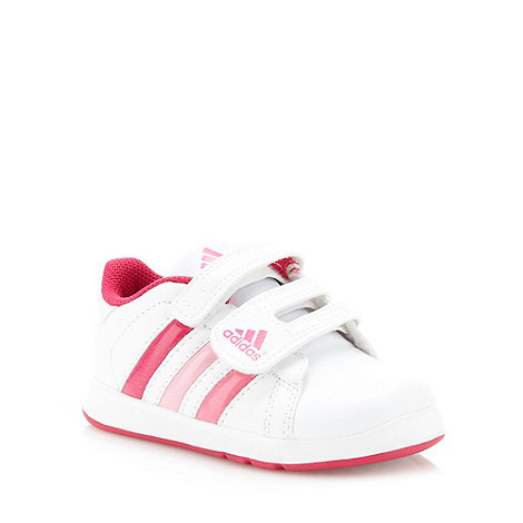 adidas - Girl+s white +Class 3+ trainers
