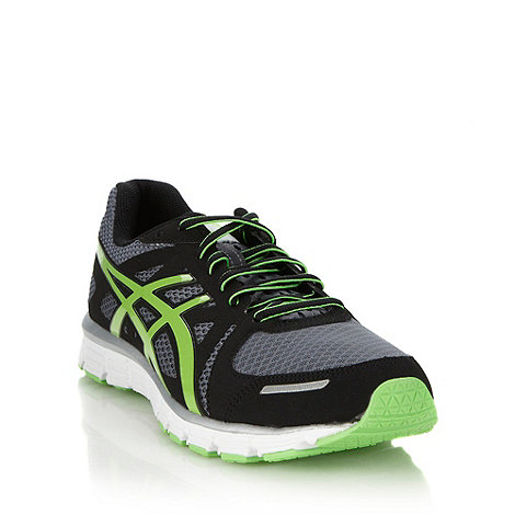 ASICS - Green graphic logo meshed running trainers