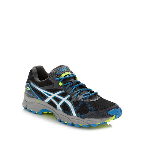 ASICS - Black 'Gel-Fuji Attack 2' running trainers