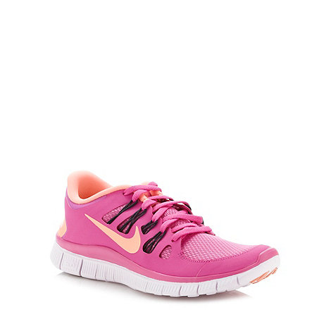 Nike - Pink +Free 5.0+ running trainers