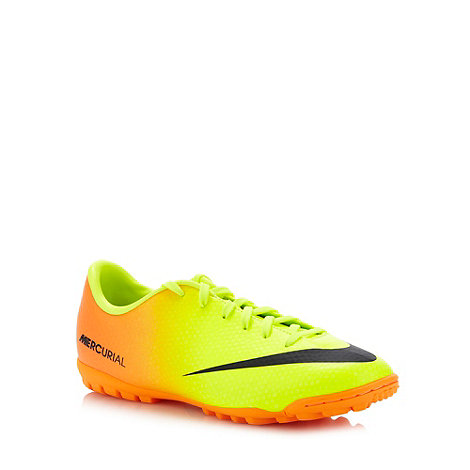 Nike - Boy's bright yellow 'Mercurial Victory' football boots