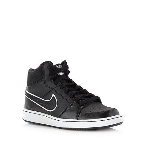 Nike - Black +Backboard 2+ high top trainers