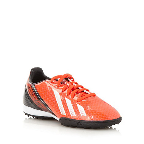 adidas - Boy+s orange +F10 TRX+ football trainers