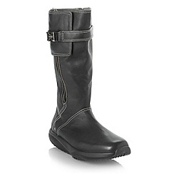 MBT - Black curved sole calf boots