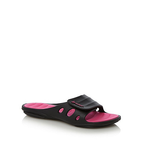 Rider - Black open toe flip flops