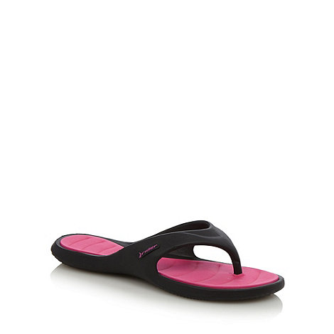 Rider - Black toe post strap flip flops