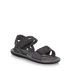 Rider - Black rip tape strap sandals