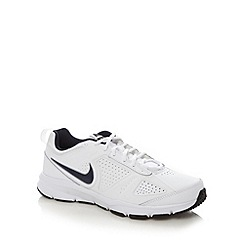 Nike - White 'T-Lite XI' leather running trainers
