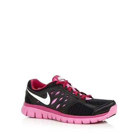Nike - Pink +Flex 2013+ mesh running trainers